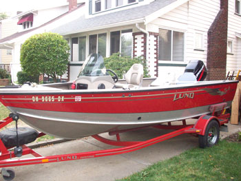 Great lakes fishing boats for sale for 16 foot aluminum boat motor size
