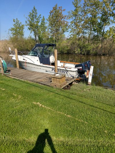 1989 Pursuit 2350 cuddy cabin outboard 23 ft   Walleye, Bass, Trout, Salmon Fishing Boat